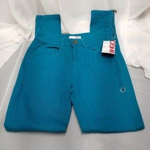 NWT BONGO Junior's Teal Skinny Jeans Sz 1